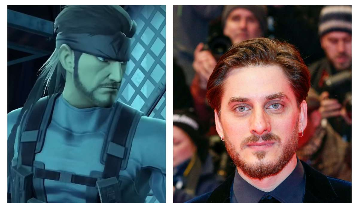 Solid Snake and Luca Marinelli