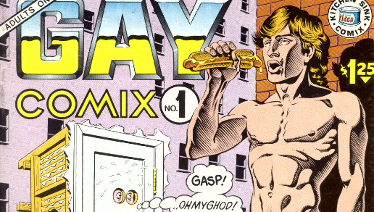 Gay Comix #1, cover art by Rand Holmes