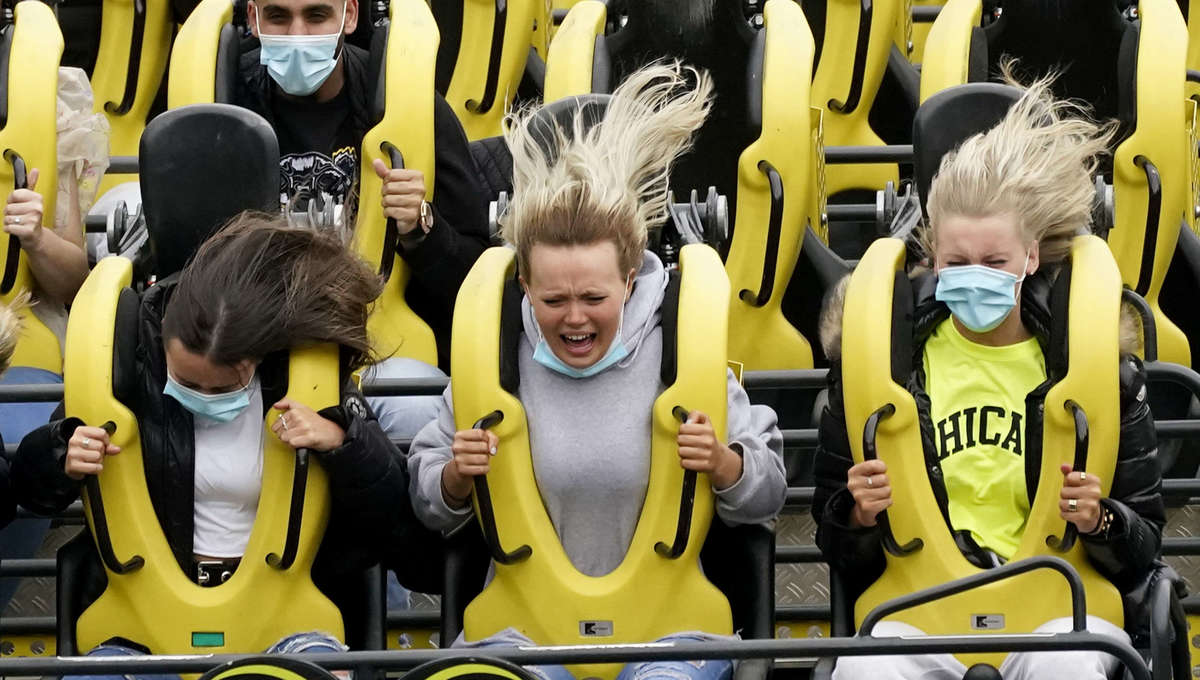 'No screaming': Japan theme park reopens with 'serious' roller coaster rides