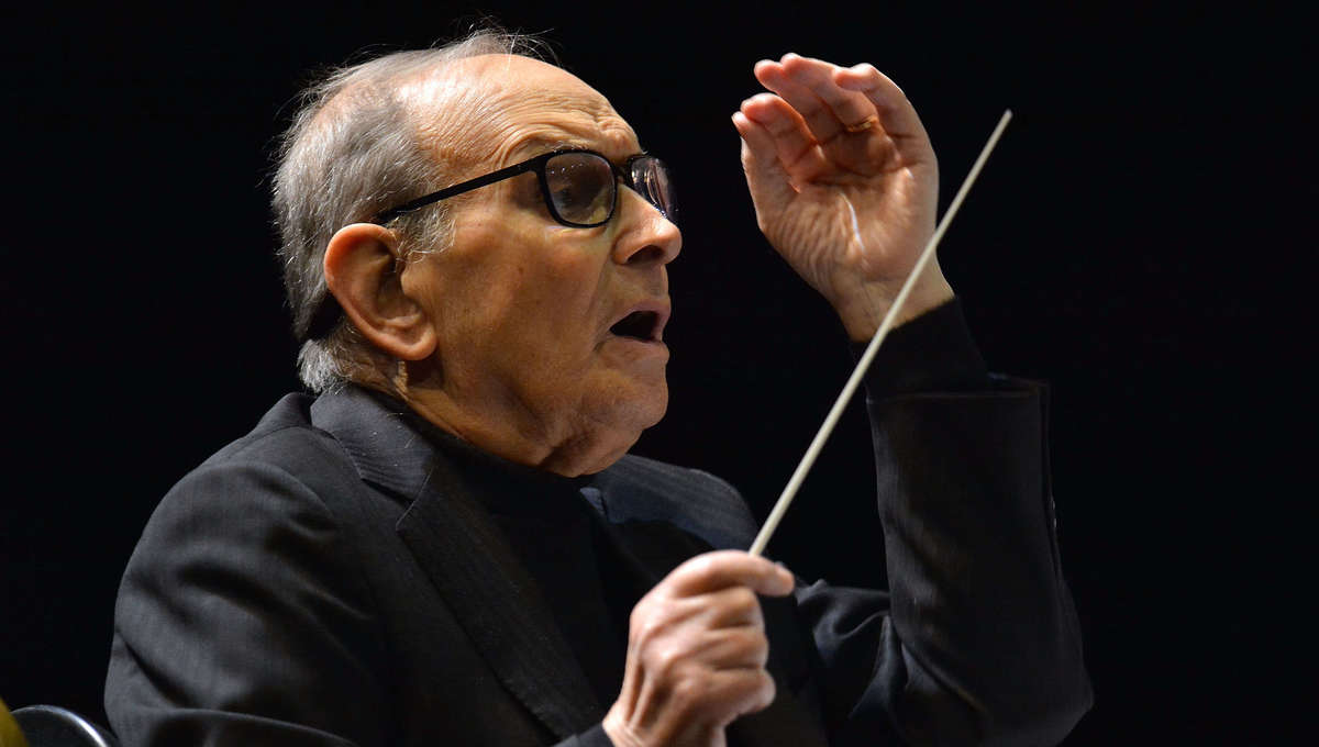 Ennio Morricone performs at the O2 Arena