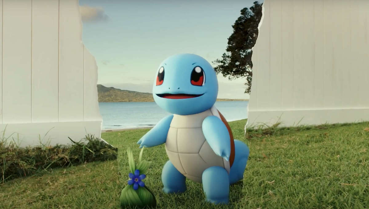 Screen from Pokemon GO Fest commercial directed by Rian Johnson