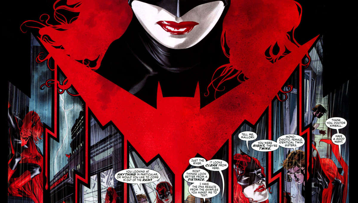 Two-page spread from Batwoman: Elegy