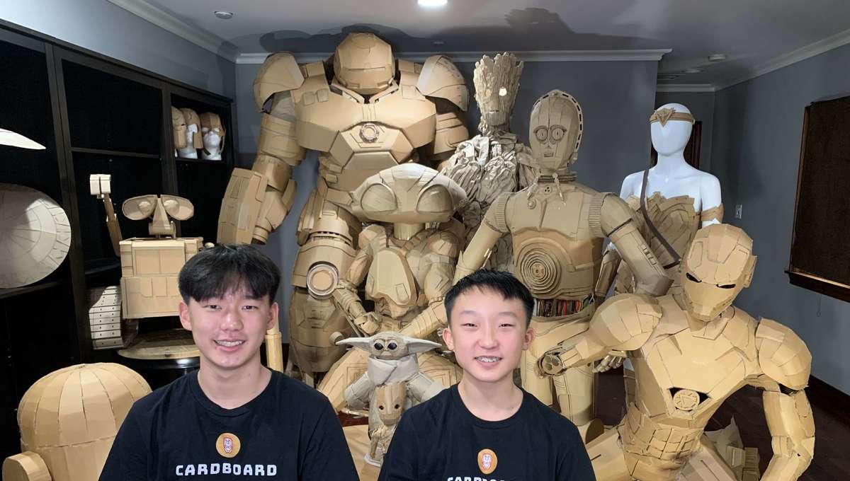 Cardboard Superheroes