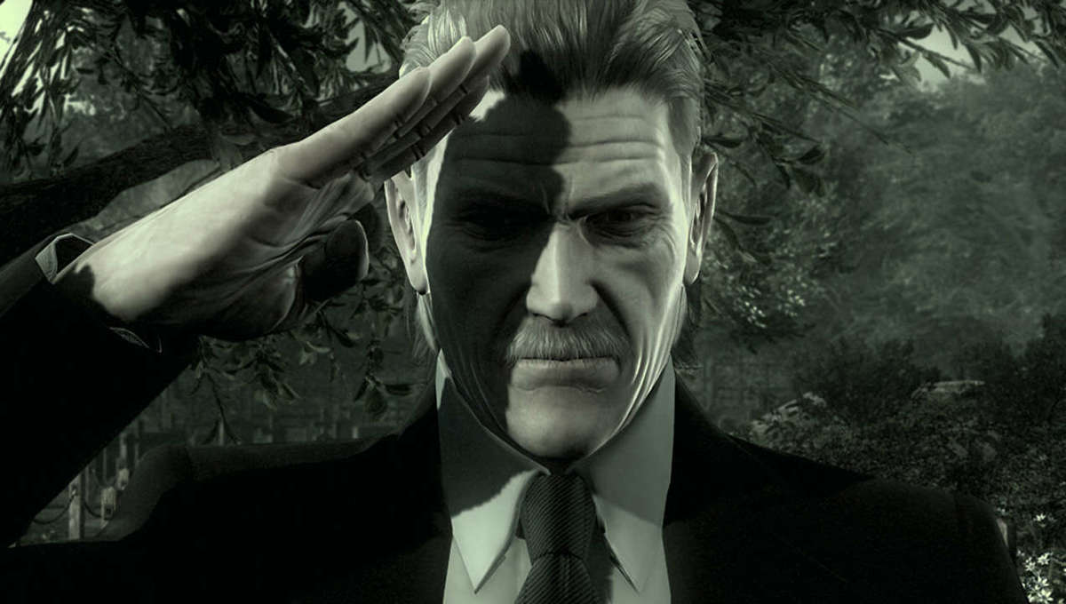 Old Snake salutes in Metal Gear Solid 4