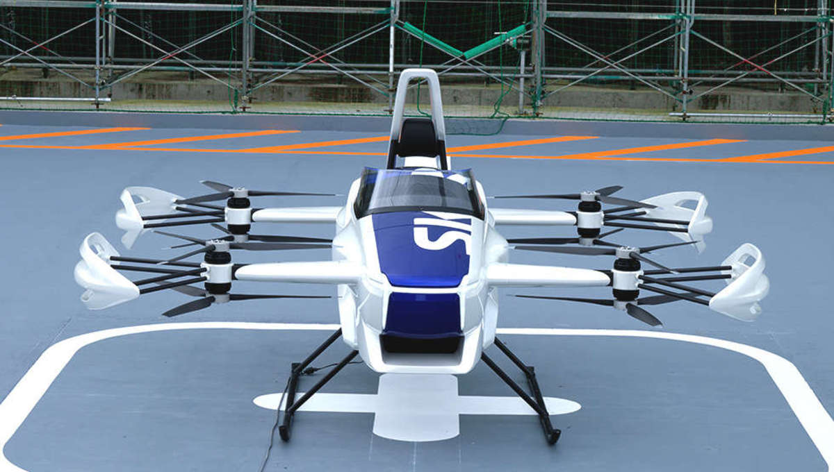 The SkyDrive flying car