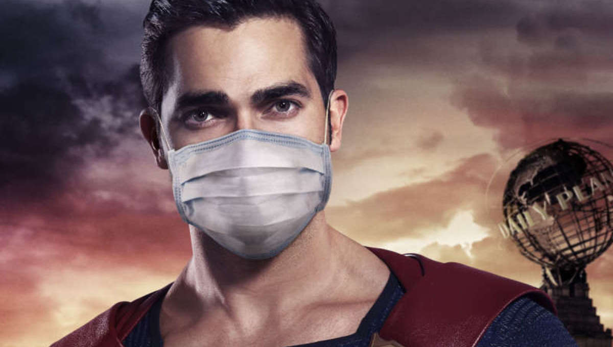Superman Real Heroes Wear Masks CW Poster