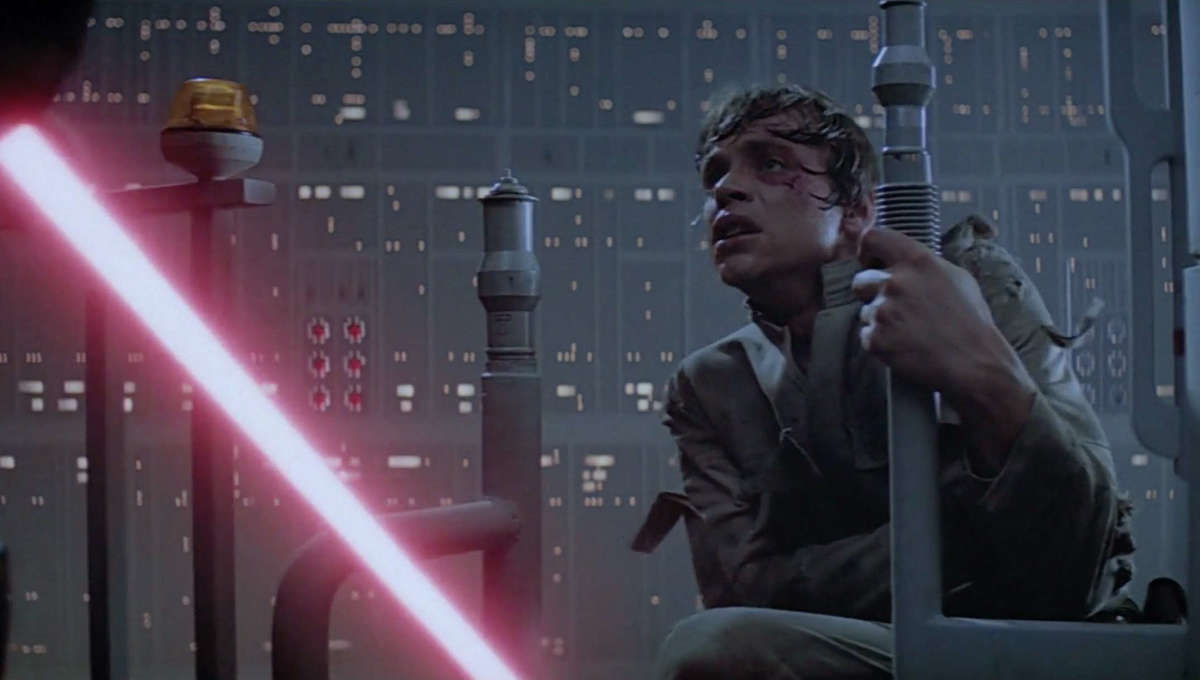 Luke and Darth Vader face off in The Empire Strikes Back