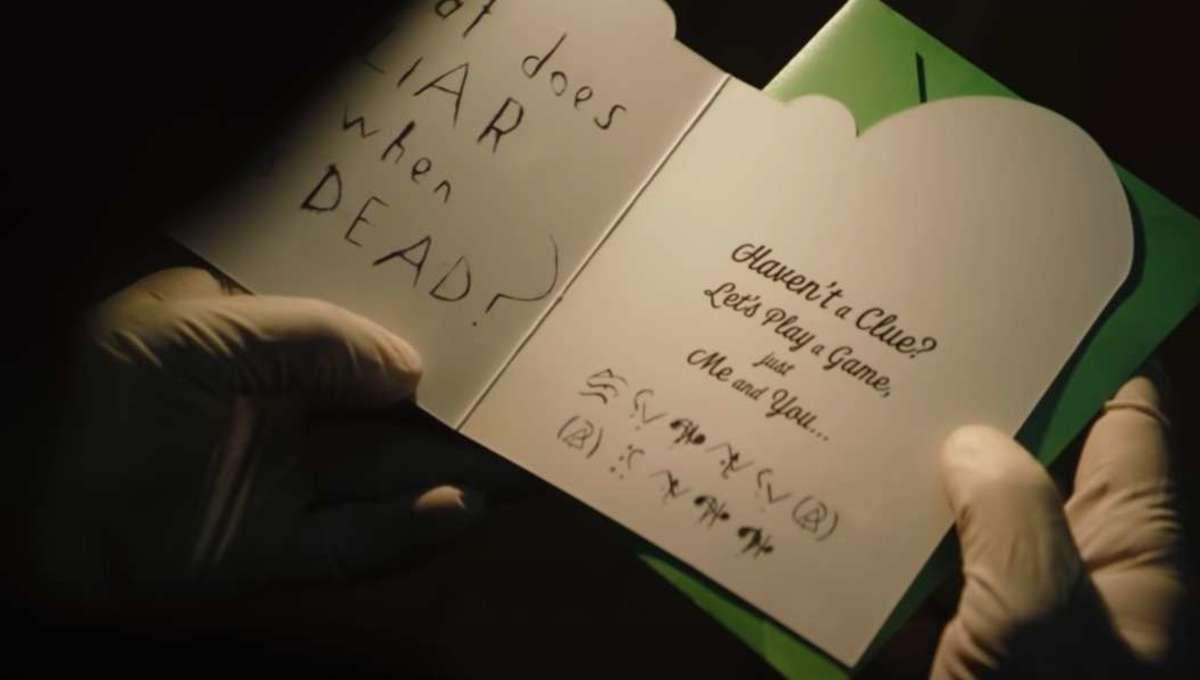 The Batman Riddler message