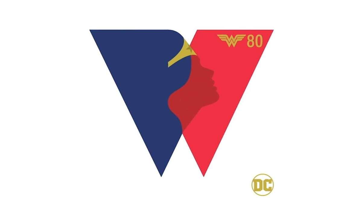 Wonder Woman 80th anniversary logo
