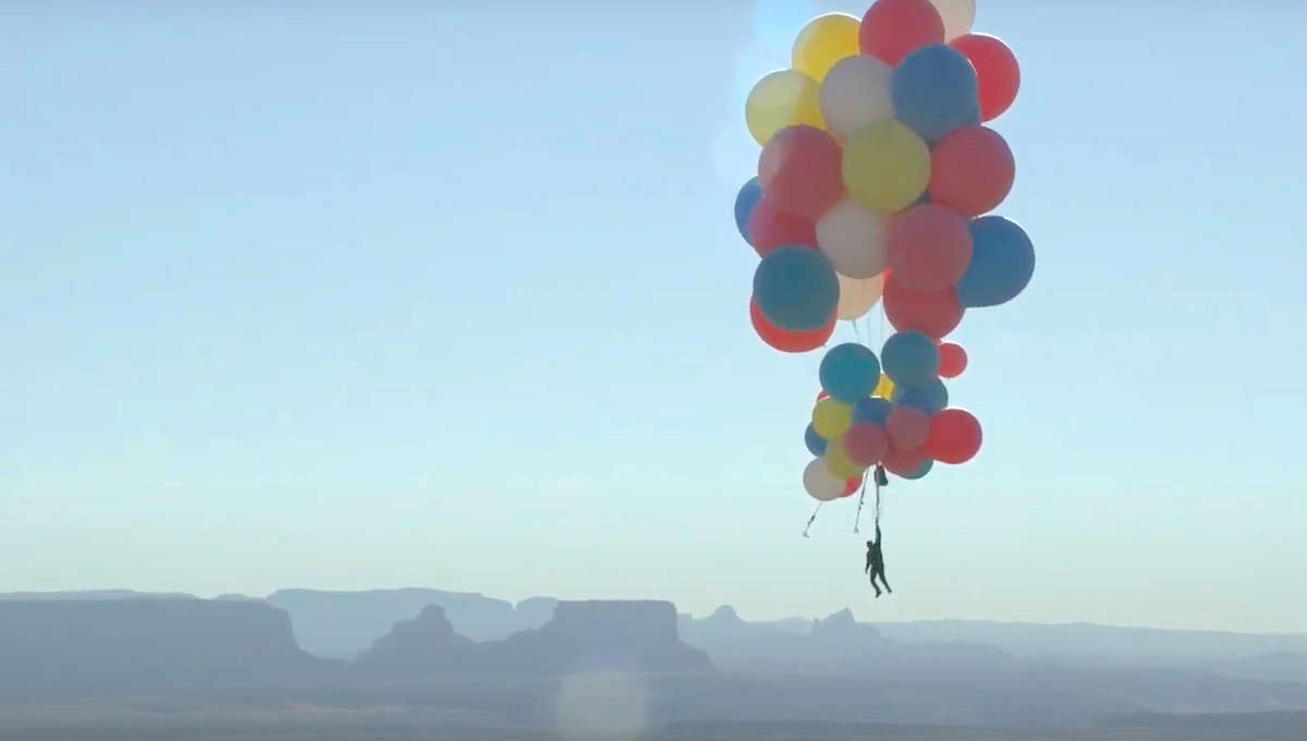 David Blaine soars with balloons in Ascension YouTube stunt
