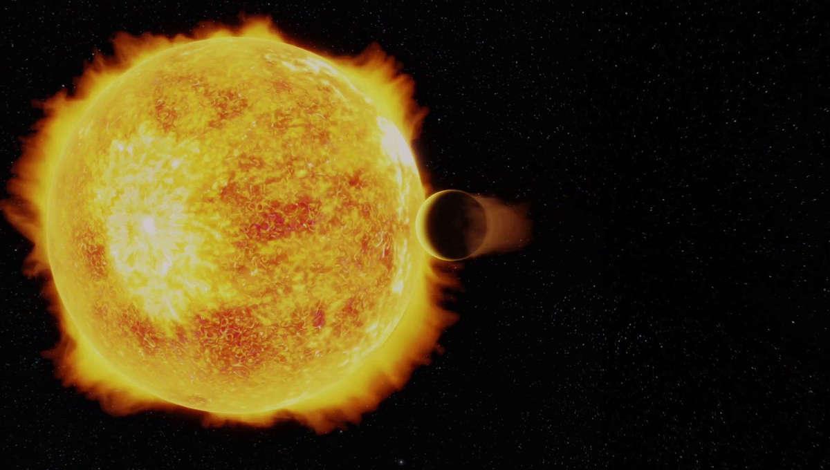 hot Neptune orbiting its star