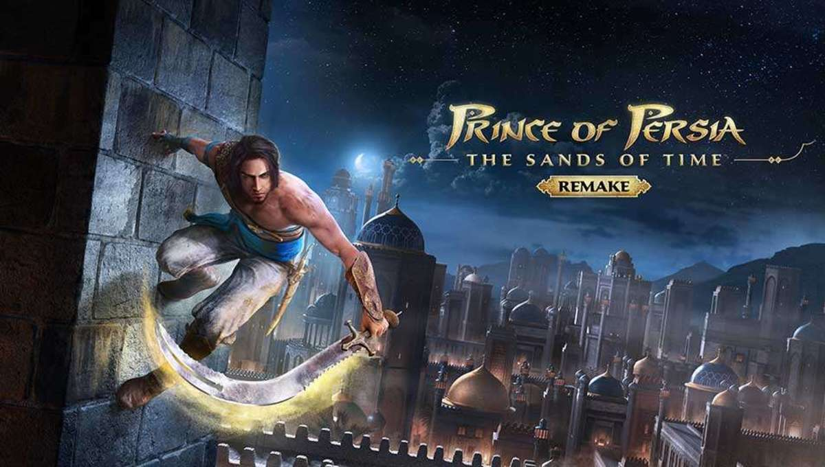 The Prince scales a wall in Prince of Persia Sands of Time Remake