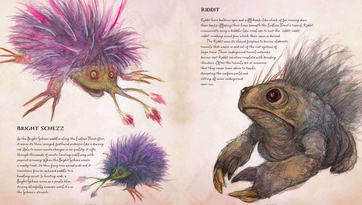 The Dark Crystal Bestiary Bright Schezz and Riddit