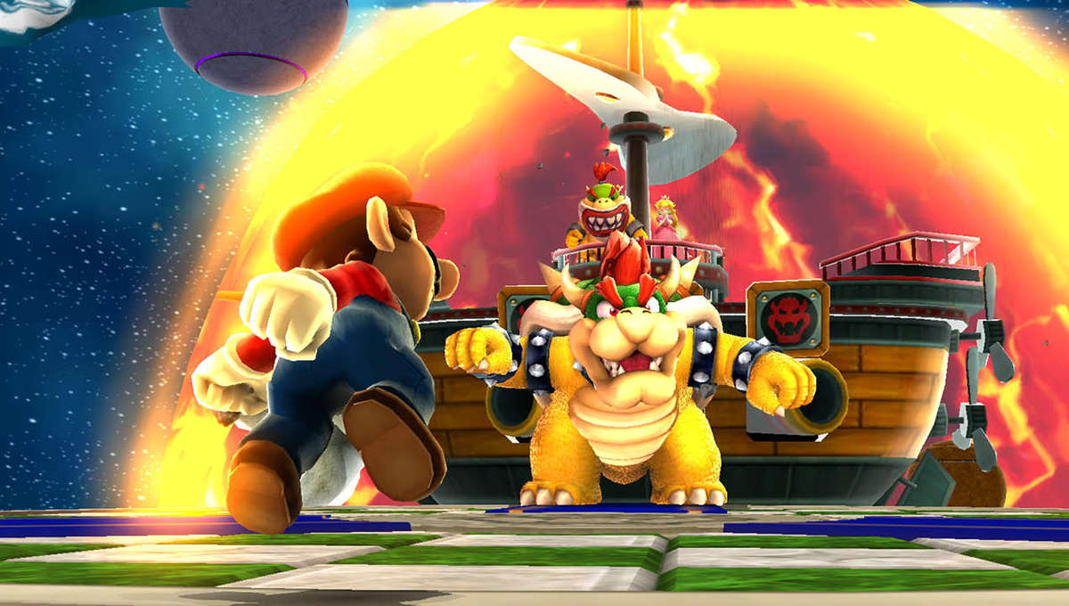 Mario takes on Bowser in Super Mario 3D All Stars