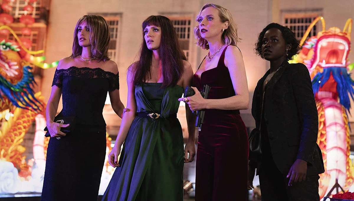 Penélope Cruz, Diane Kruger, Jessica Chastain, and Lupita Nyong'o in The 355