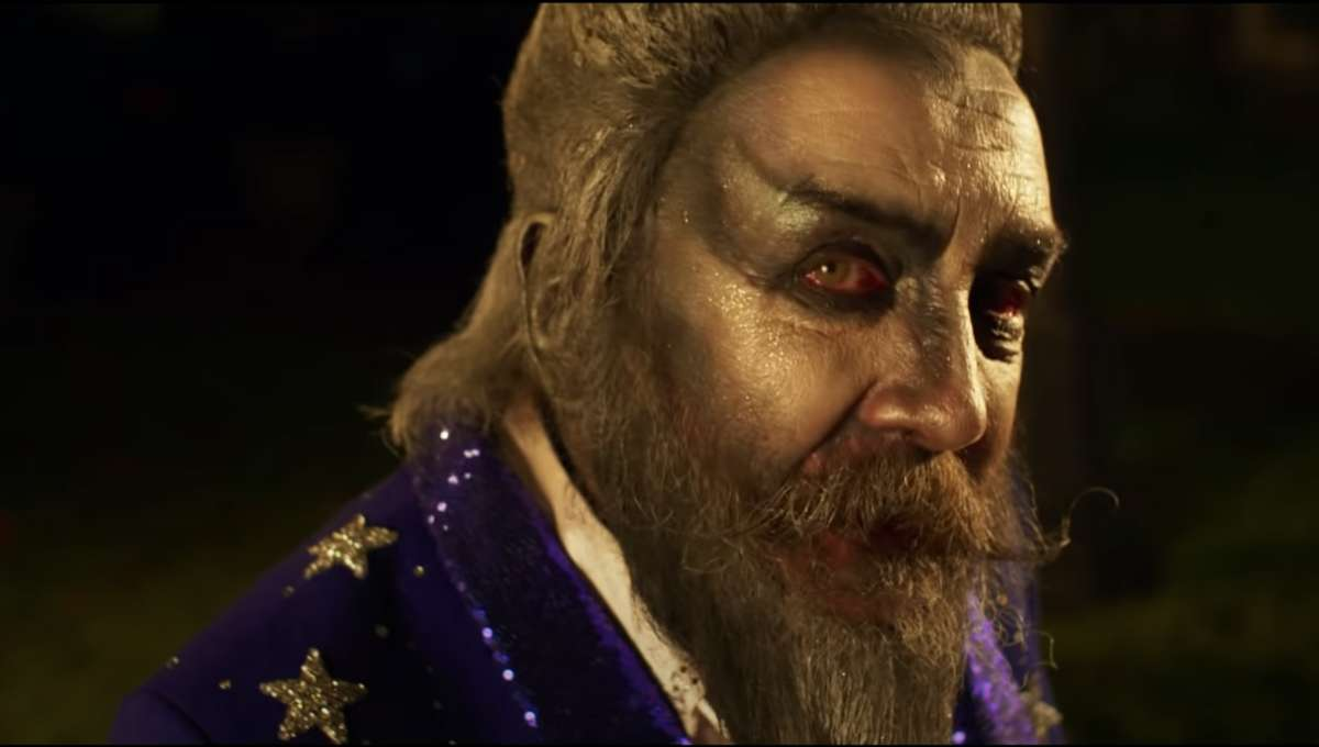 Screenshot of Alan Moore in The Show