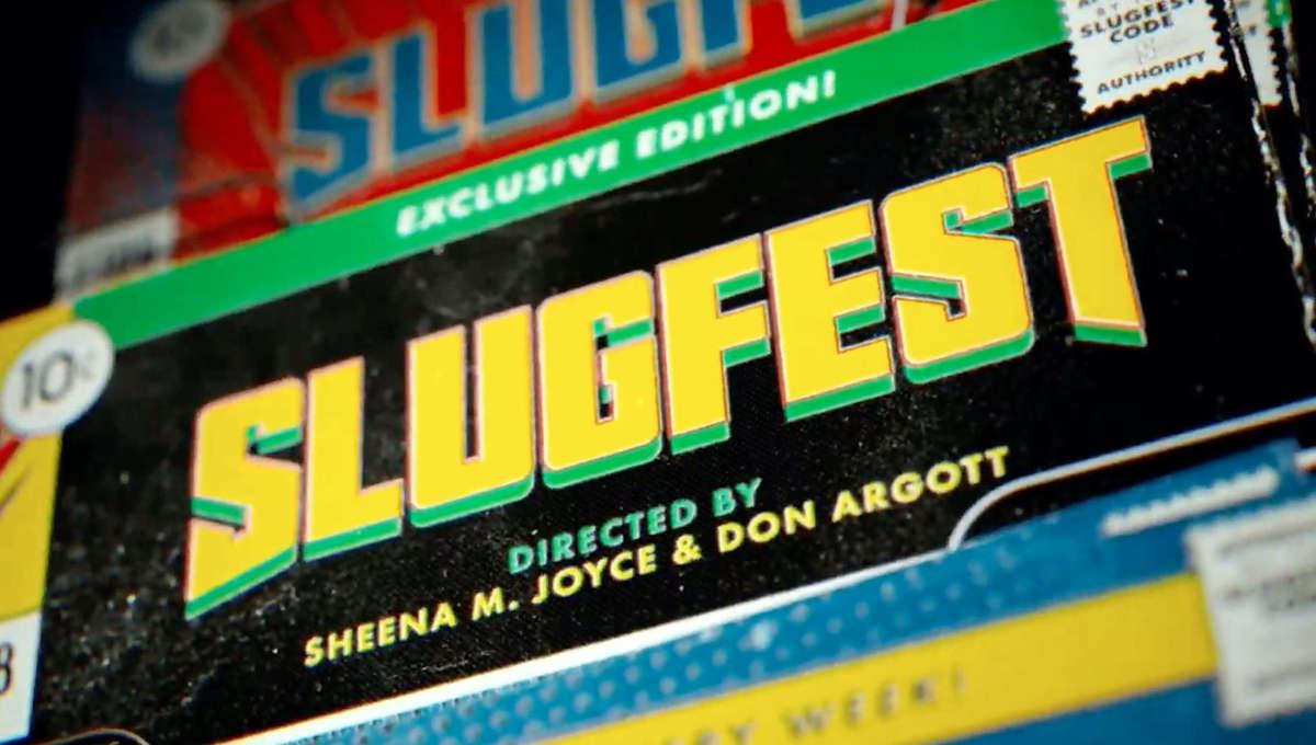 Logo banner for Quibi web series Slugfest