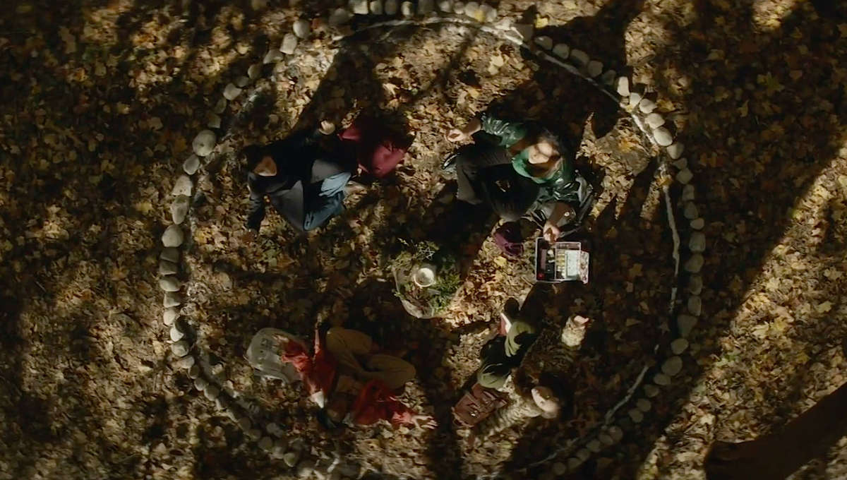An outdoor seance in The Craft: Legacy