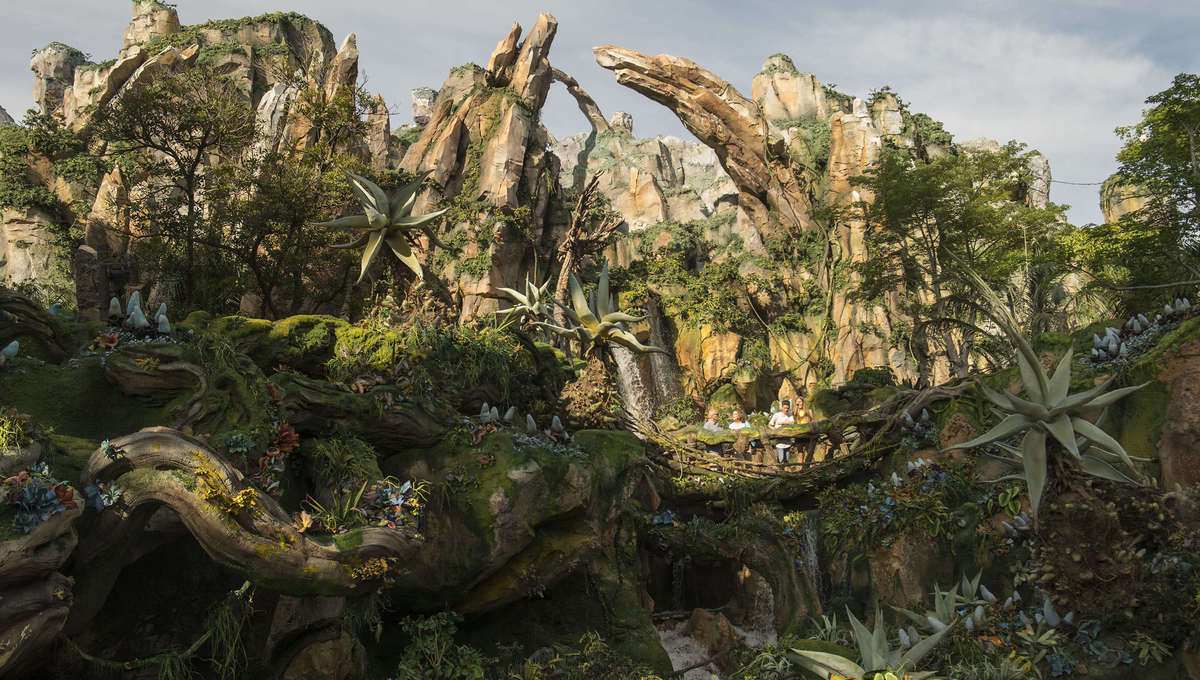 Floating Mountains at Disney's Avatar-themed land
