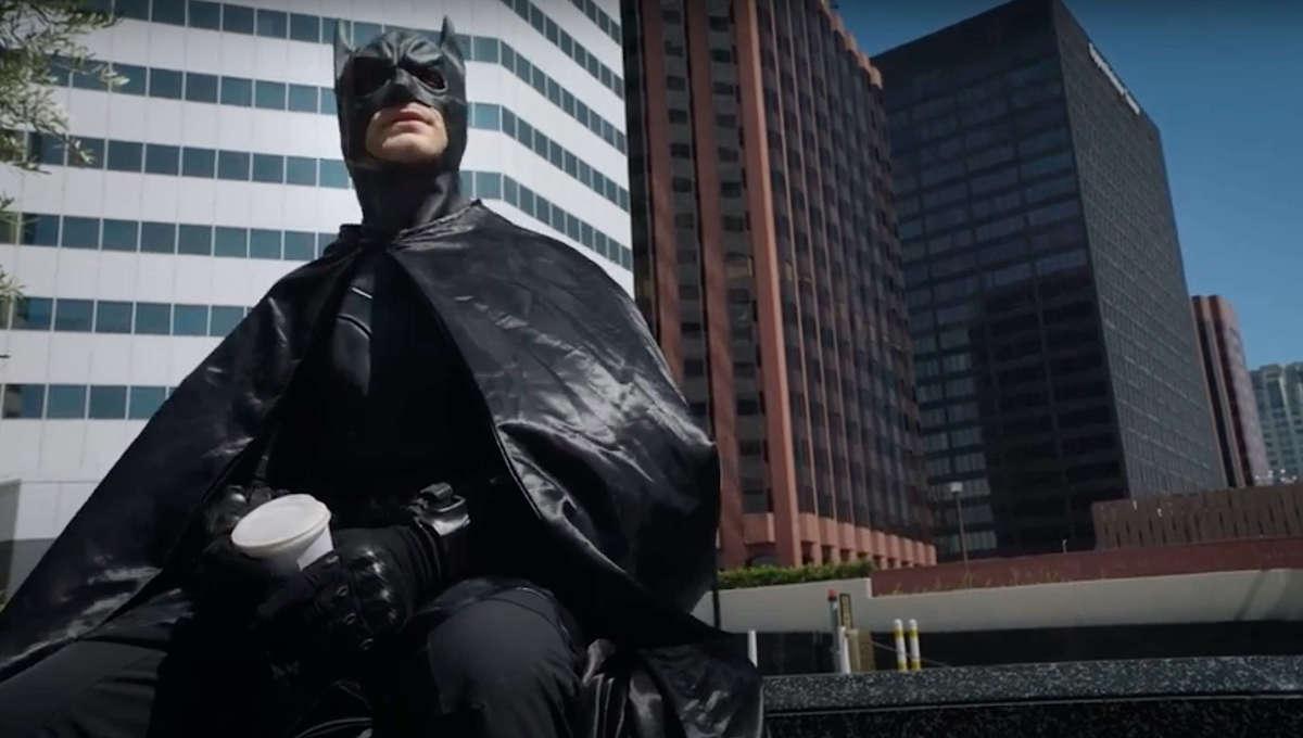 Batman in Gotham for COVID Relief parody