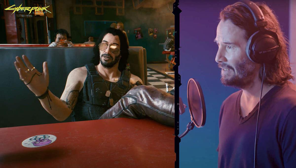 Keanu Reeves in the studio for Cyberpunk 2077