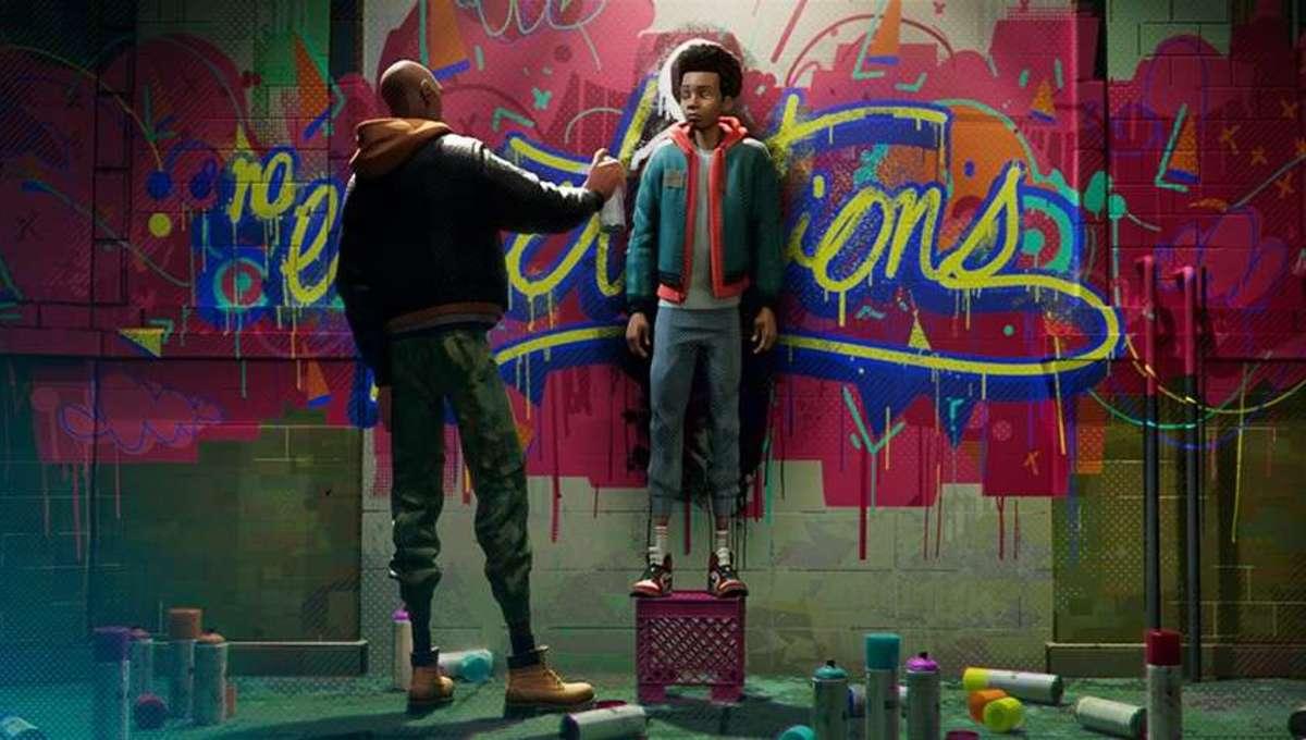 Into the Spider-Verse graffiti
