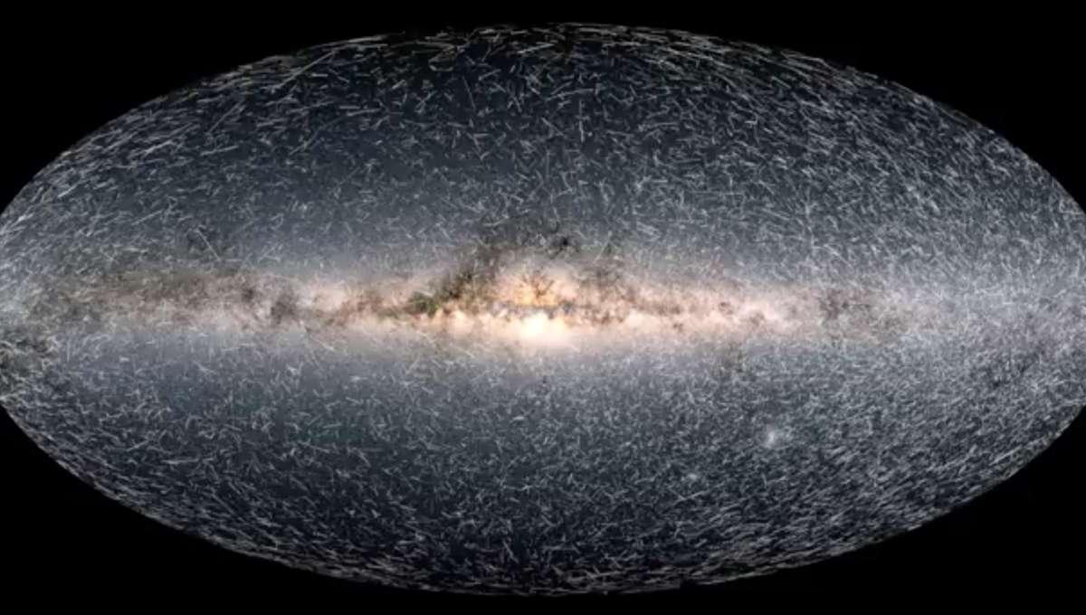 Gaia Milky Way projection