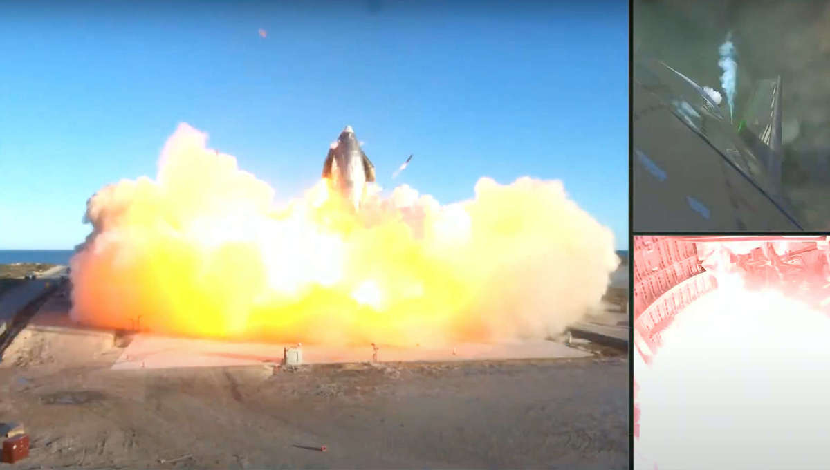 SpaceX Starship SN8 explodes on landing during December 2020 test