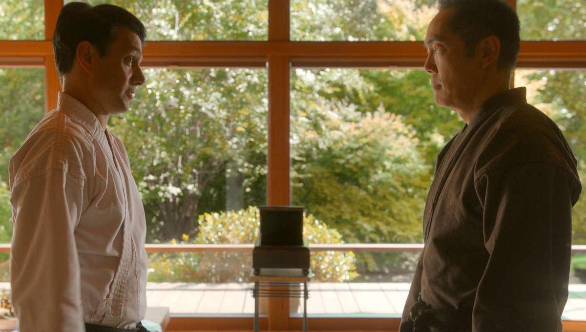 Ralph Macchio andYuji Okumoto in Cobra Kai Season 3