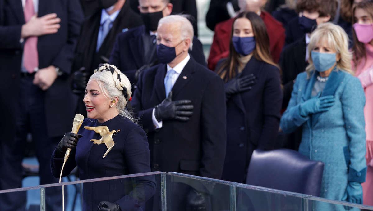 Lady Gaga, President Biden and Dr. Biden