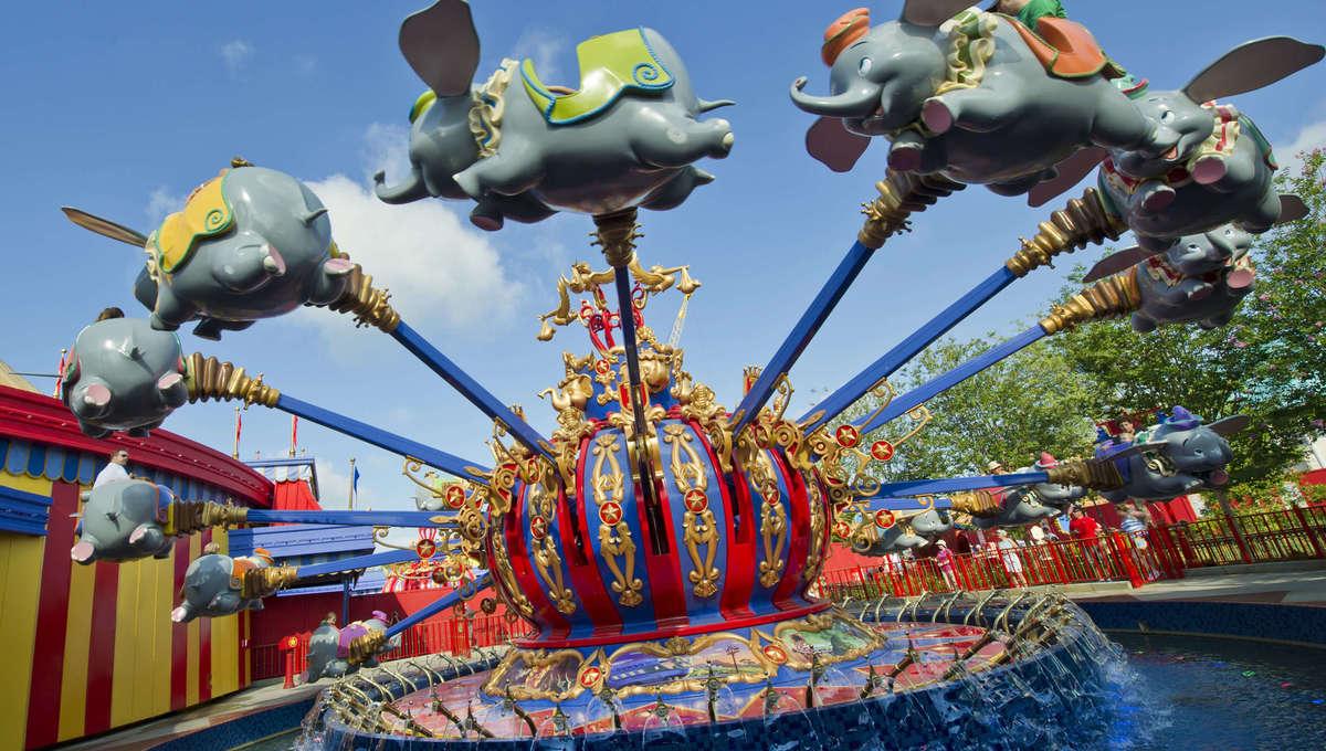 Spinning Dumbo ride at Walt Disney World