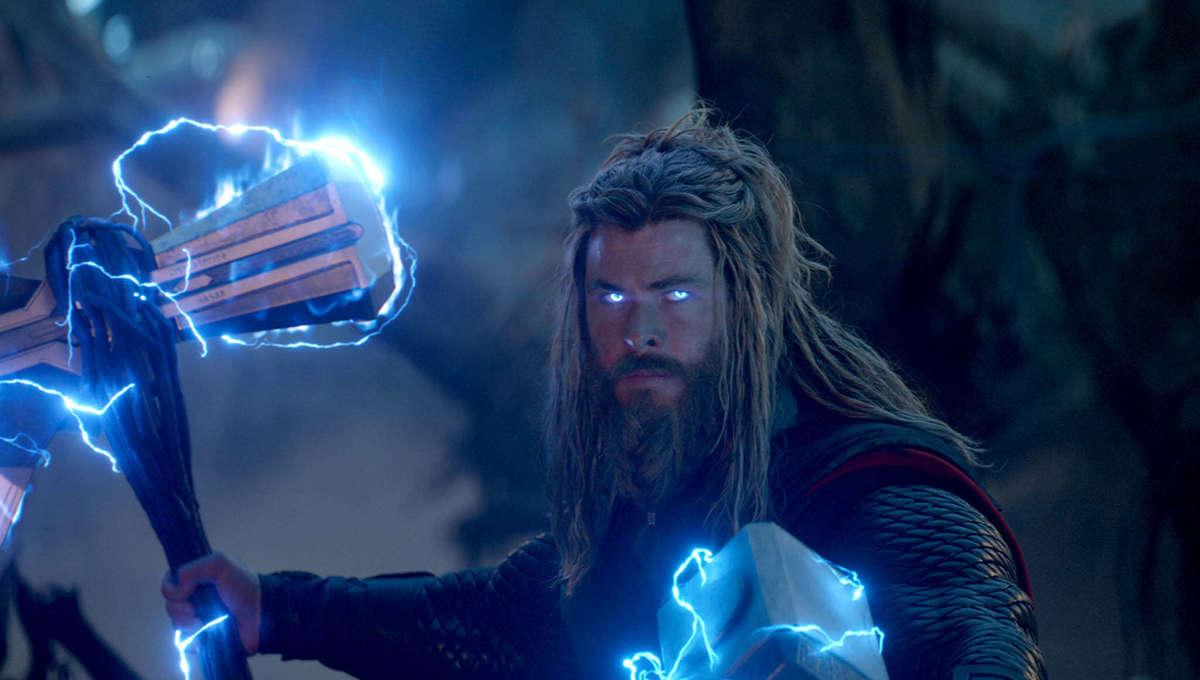 Thor Wielding Mjolnir and Stormbreaker