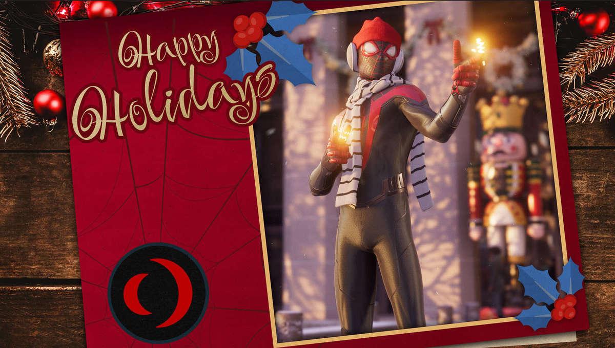 Spider Man Miles Morales Holiday Card 2020