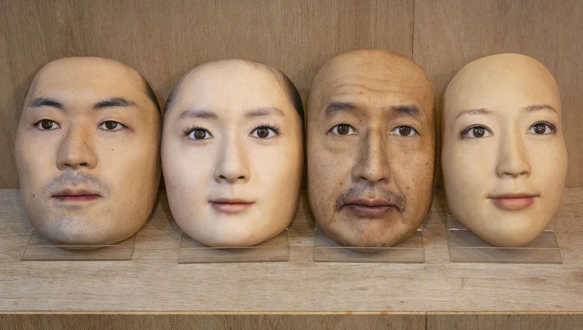 3D printed face masks from artist Shuhei Okawara