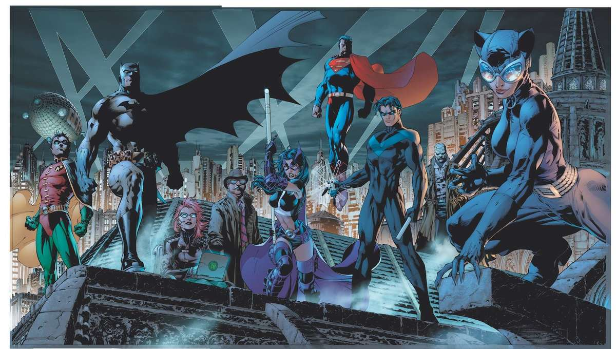 DC Comics hero collage