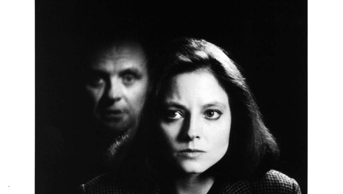 Anthony Hopkins and Jodie Foster on set of The Silence of the Lambs
