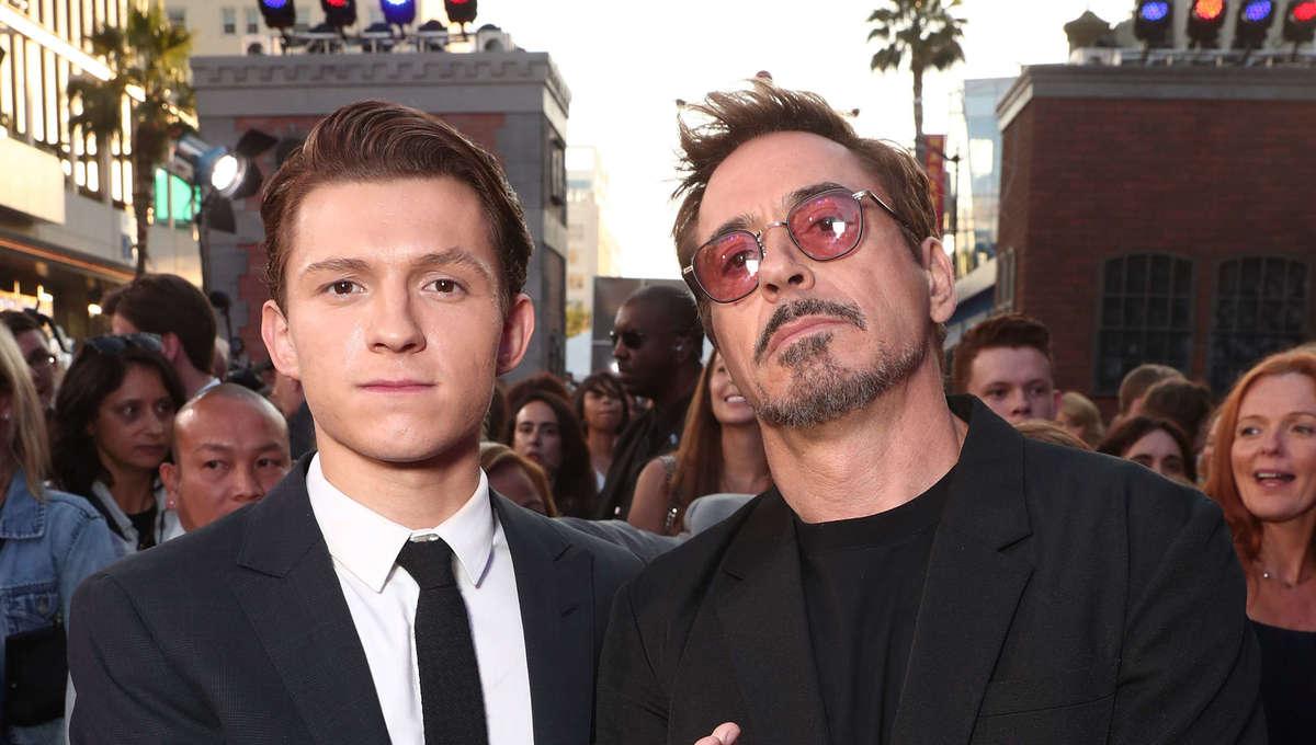 Tom Holland & Robert Downey Jr.