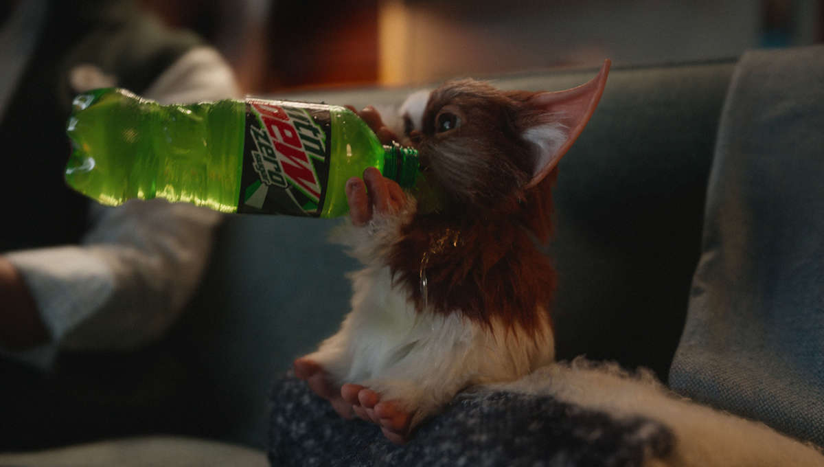 MTN Dew Gremlins commercial with Gizmo and Zach Galligan