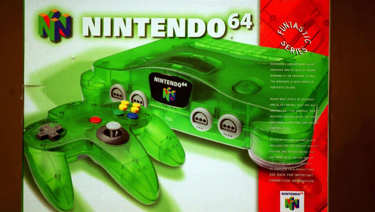Nintendo 64 console in box
