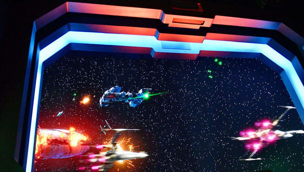 Star Wars space battle simulation