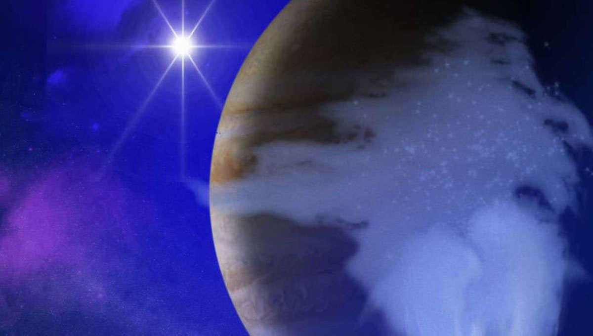 NASA image of water vapor plume