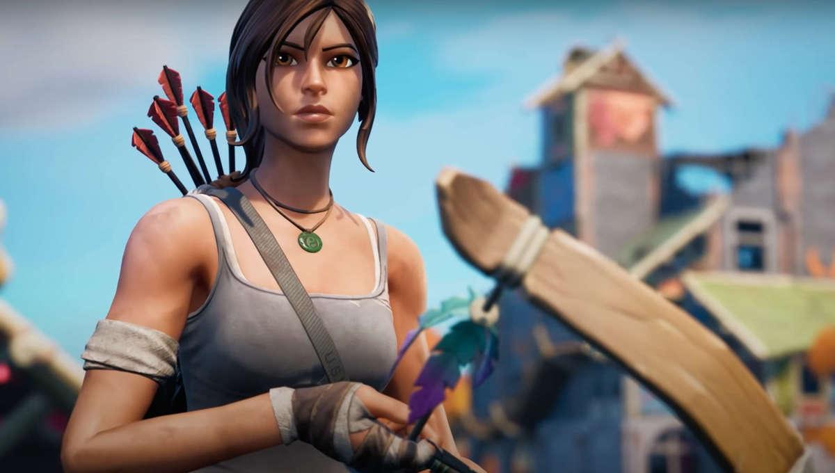 Lara Croft in Fortnite Chapter 2 Season 6