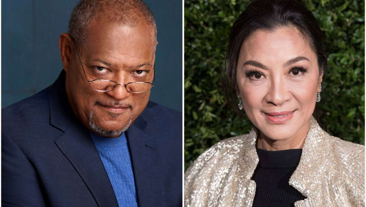 Laurence Fishburne and Michelle Yeoh