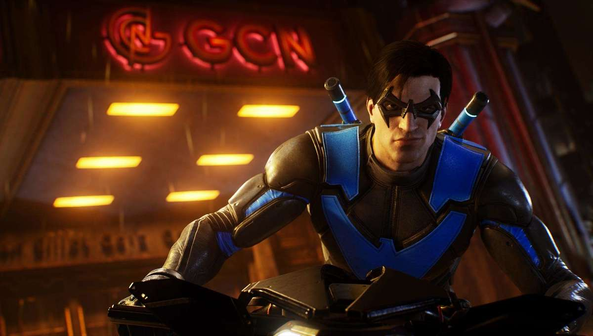 Nightwing in Gotham Knights video game