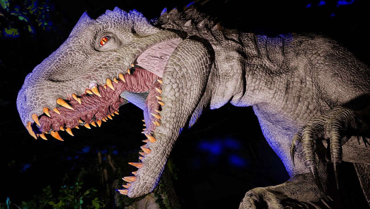 Indominus rex on Jurassic World: The Ride