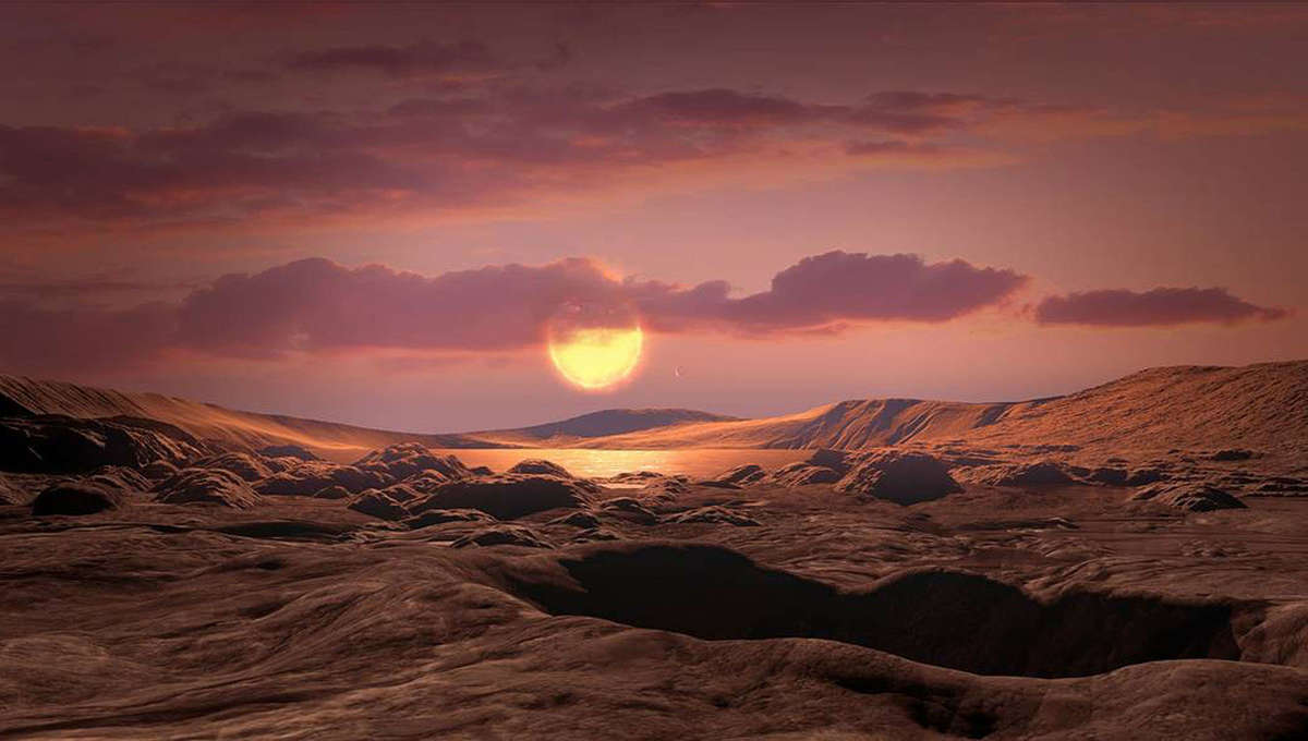 NASA image of an exoplanet atmosphere