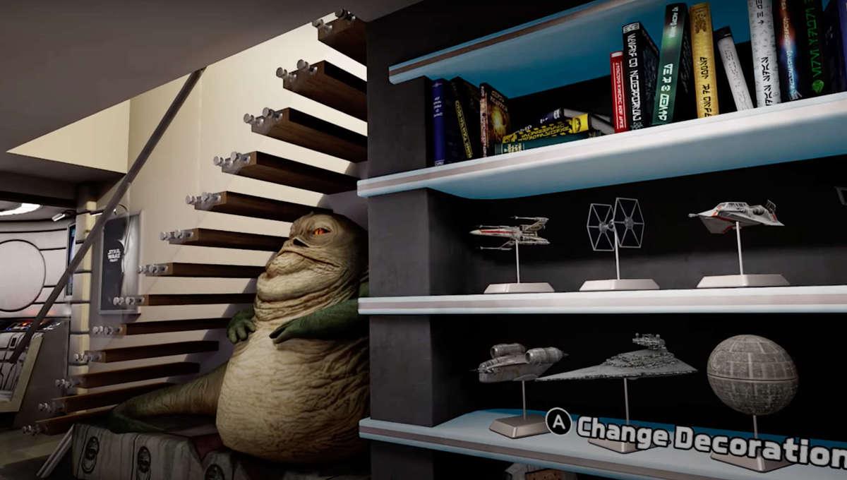 Star Wars Pinball VR game lounge