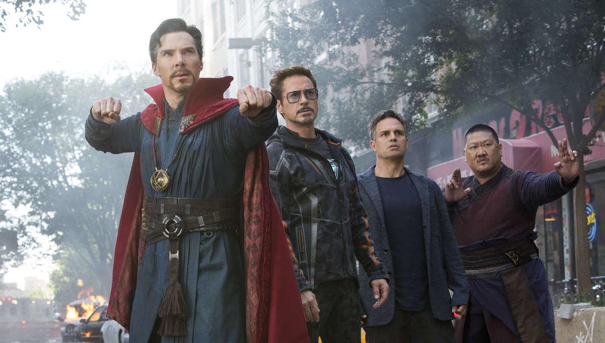 Doctor Strange, Iron Man, Hulk and Wong