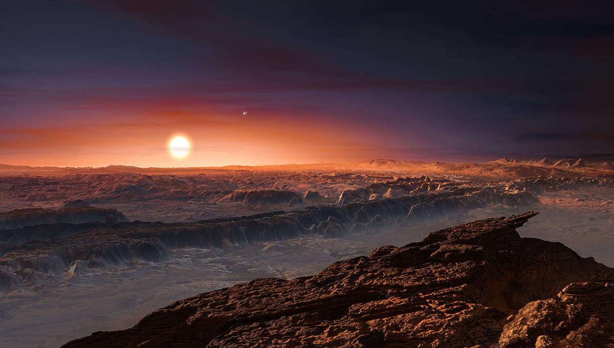 NASA image of Proxima b