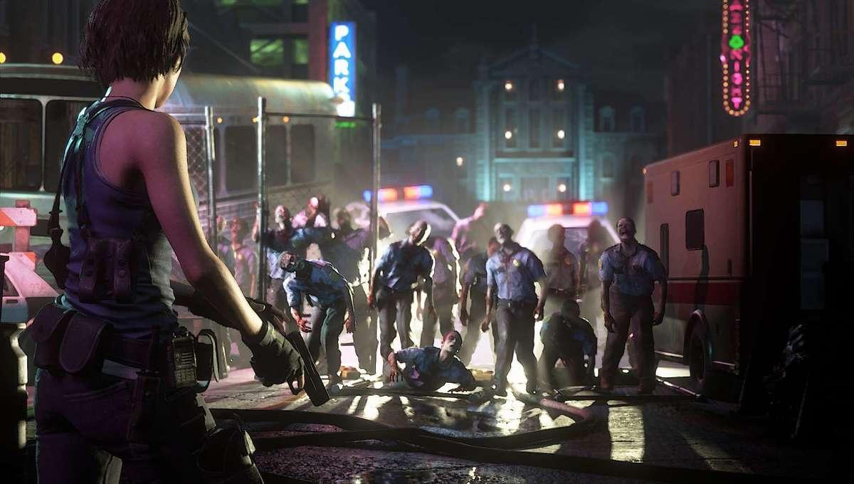 Jill Valentine vs Zombies in Resident Evil 3